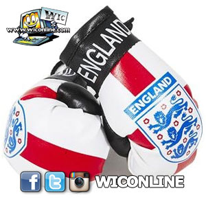 England 3 Lions Boxing Gloves