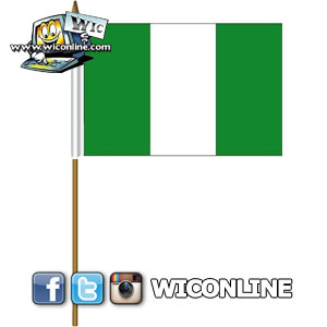 Nigeria Large Stick Flag