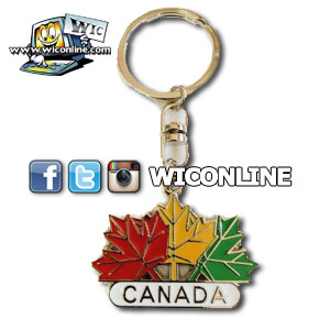 Canada 3 Colour Leaf Keychain